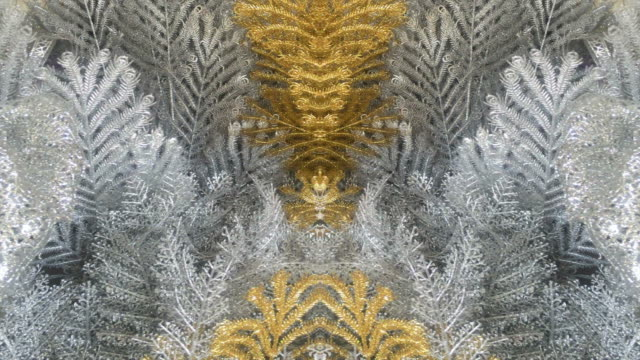 gold kaleidoskop hintergründe - silberfarbig stock-videos und b-roll-filmmaterial