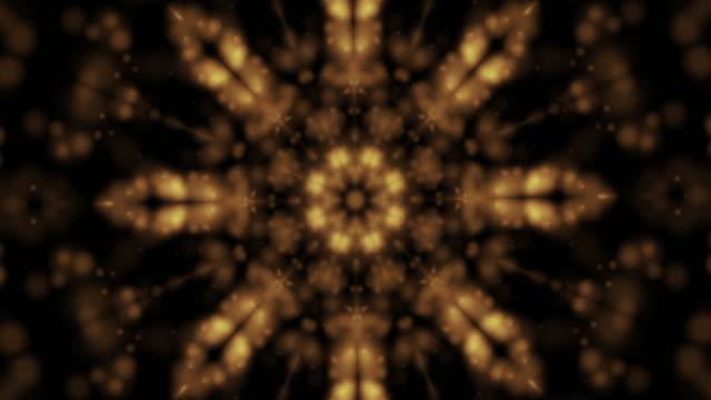 vídeos y material grabado en eventos de stock de caleidoscopio de oro - caleidoscopio patrón
