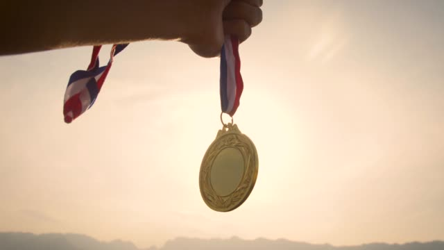 gold medal winner - gold medalist stock videos & royalty-free footage