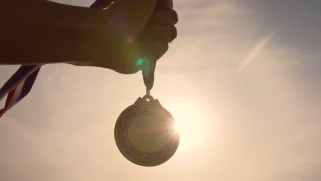 gold medal winner - medal stock videos & royalty-free footage