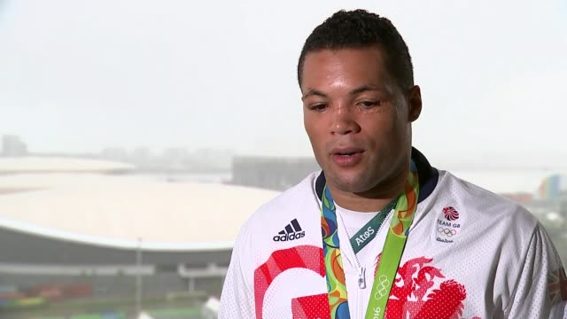 12 gold medals won by Londoners Joe Joyce interview SOT Joyce holding silver medal at photocall