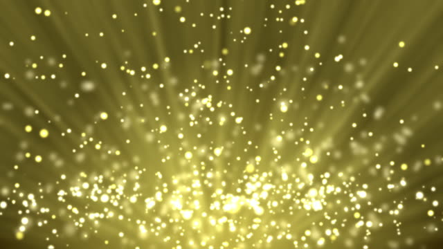Gold particle background and light rays