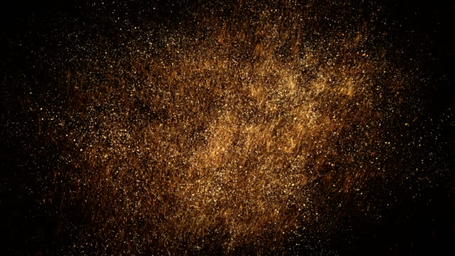 gold particle cloud - loop - glitter stock videos & royalty-free footage
