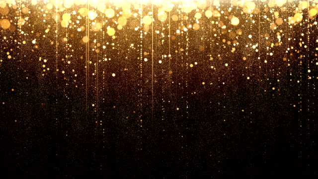 gold particle rain - loop - glittering stock videos & royalty-free footage
