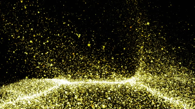 gold particles background - 4k resolution - sound wave stock videos & royalty-free footage