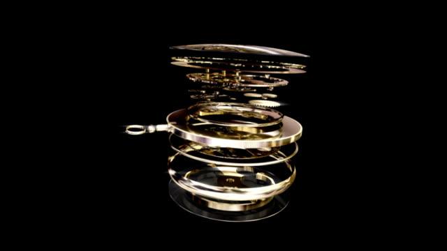 Gold Pocket Watch with Alpha Matte!