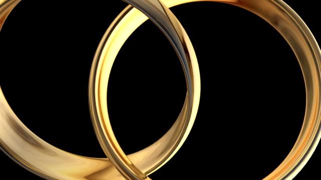 vídeos y material grabado en eventos de stock de anillos de oro gira - two dimensional shape