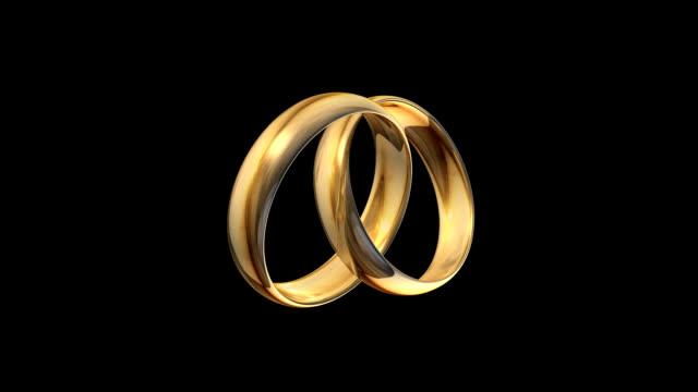 vídeos y material grabado en eventos de stock de anillos de oro - two dimensional shape