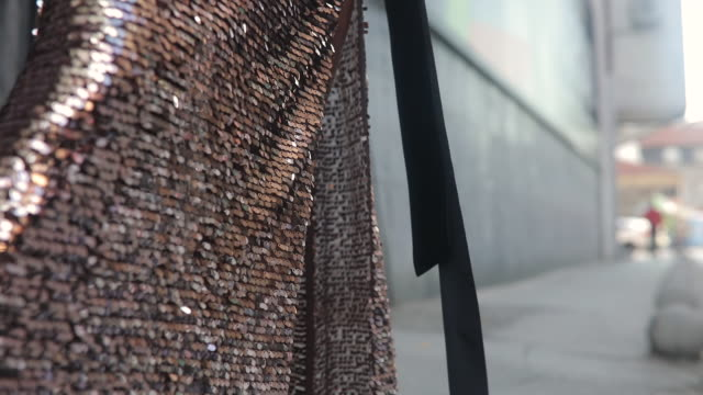 gold sequin dress - sequin stock videos & royalty-free footage