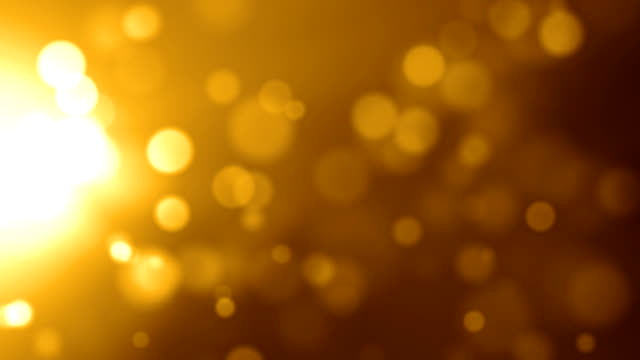 Gold Side Particles Background Video Loop (Full HD)