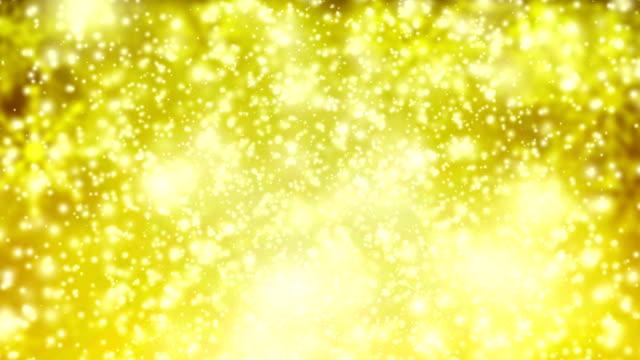 Gold snow fall