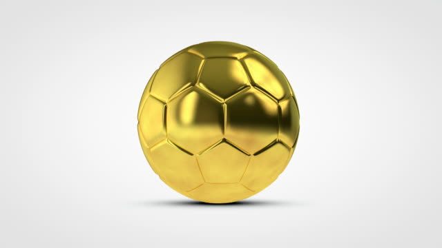 Gold spinning soccer football