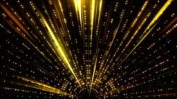 Gold Stage Glitter Glamour Luxury Awards Show Glow Shining Ceremony Lights 4K  Background