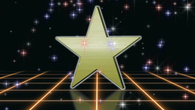 Gold Star Background Loop