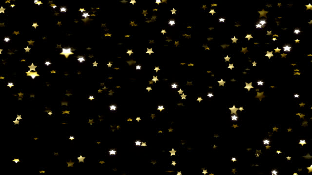 gold stars falling (alternate) - stars stock videos & royalty-free footage