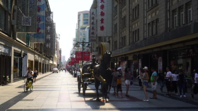 gold street a business walking street with a lot of historical architectures from concession period in 1900's is a popular travel destination and... - sculpture stock videos and b-roll footage