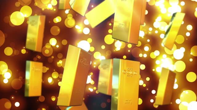 4k gold - barren geld und finanzen stock-videos und b-roll-filmmaterial