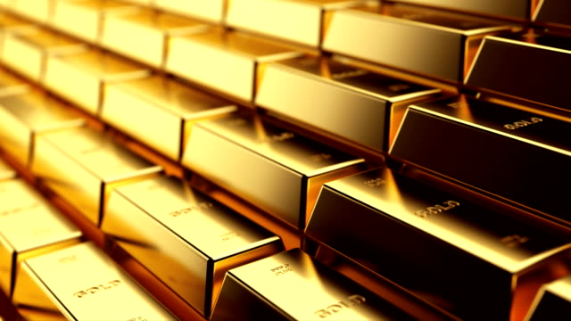 gold - ingot stock videos and b-roll footage
