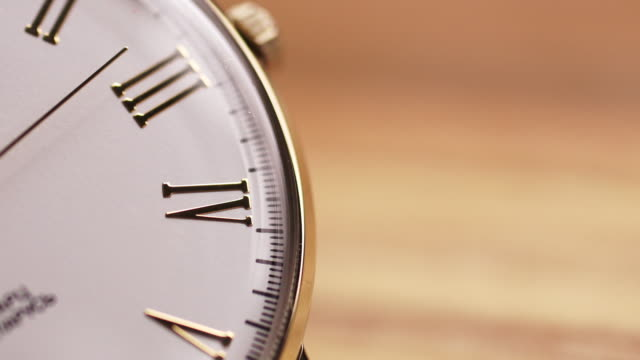 gold watch second hand close up - deadline stock videos and b-roll footage