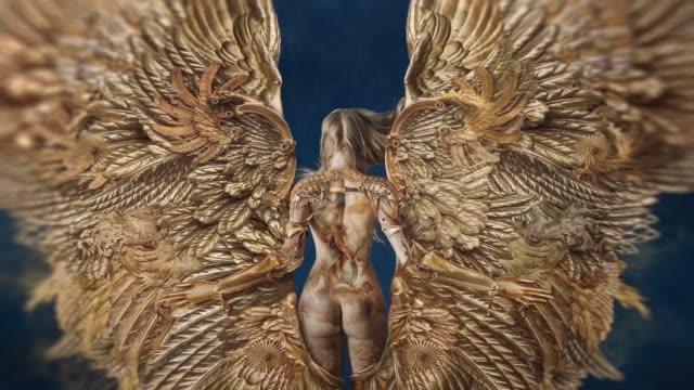 gyllene ängeln - ängel bildbanksvideor och videomaterial från bakom kulisserna