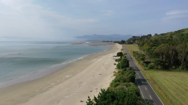 vidéos et rushes de golden bay à puponga, south island, nouvelle-zélande a1/5 - littoral