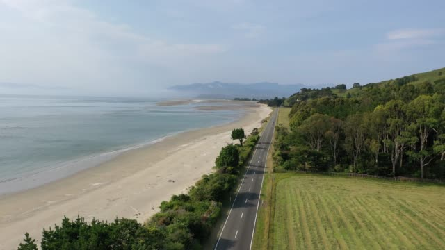 golden bay in puponga, south island, new zealand b1/2 - tall high stock videos & royalty-free footage