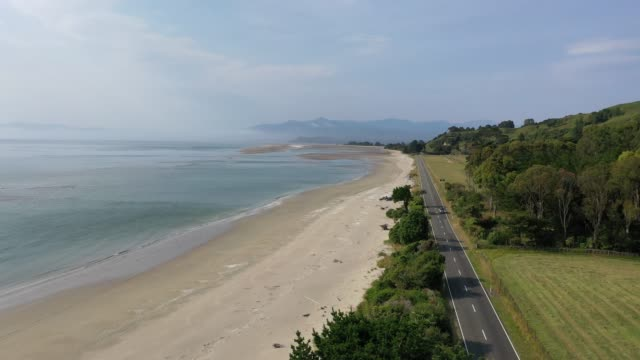 golden bay in puponga, south island, new zealand b2/2 - tall high stock videos & royalty-free footage