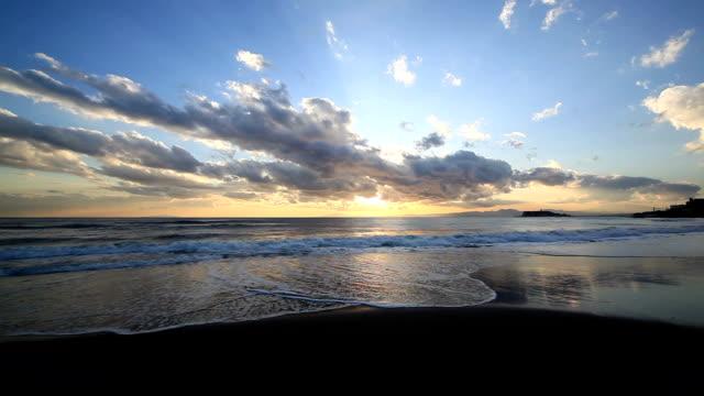 ゴールドのビーチ。 - 波打ち際点の映像素材/bロール