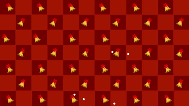 golden bells swing in red and orange chess board - bell stock videos & royalty-free footage