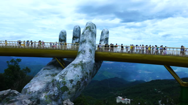 Golden Bridge in Ba Na Hills, Vietnam, Asia