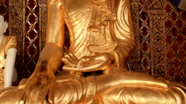golden buddha statue - buddha stock videos & royalty-free footage