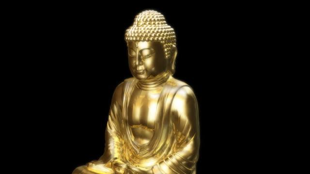 ゴールドの大仏 - 像点の映像素材/bロール
