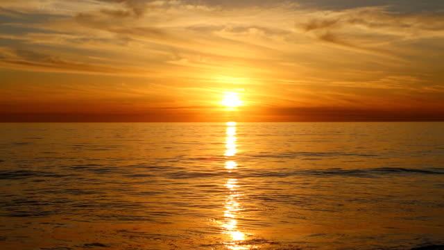 Golden California Pacific Ocean Sunset