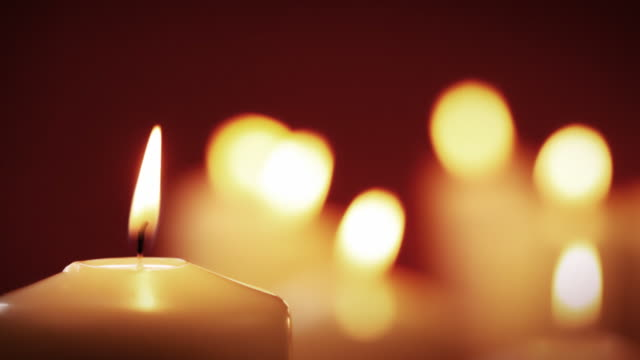 golden candle group - candlelight stock videos and b-roll footage