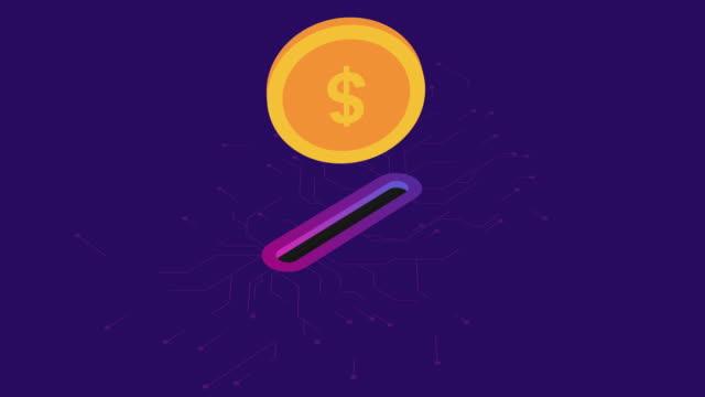 stockvideo's en b-roll-footage met gouden munt drop in spaarpot. donatie en liefdadigheid. doneren geld concept. - transparent