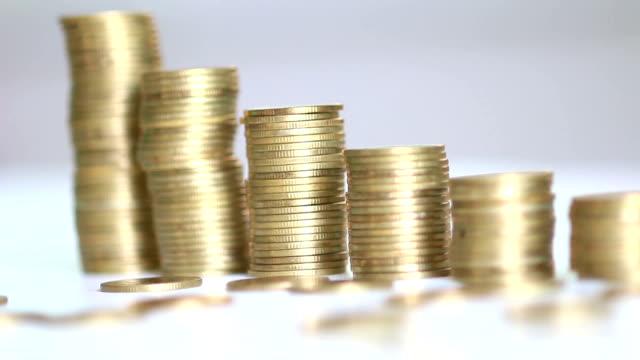 Goldenen Münzen organisiert ein Diagramm