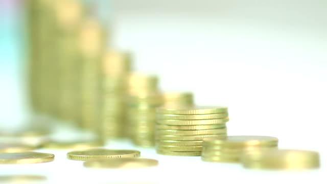 golden coins arranged as a graph
