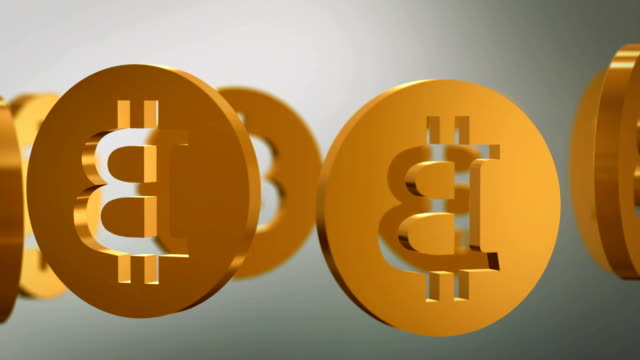 黄金のコイン rotarion、3 d - ピア・ツー・ピア点の映像素材/bロール