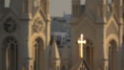 Golden Cross and Christian Church Architecture