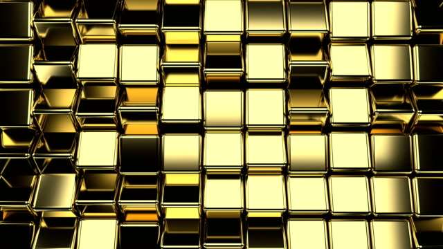 golden cubes loop background - music video stock videos & royalty-free footage