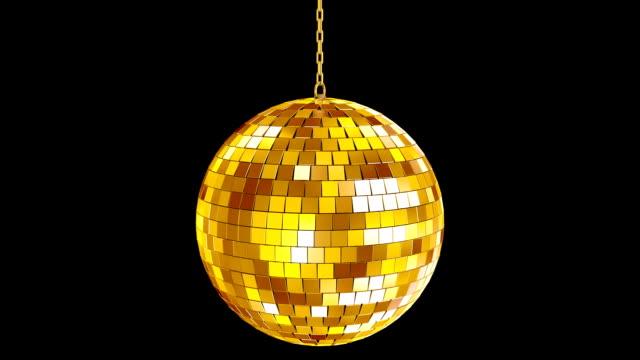 golden disco ball - disco tanz stock-videos und b-roll-filmmaterial