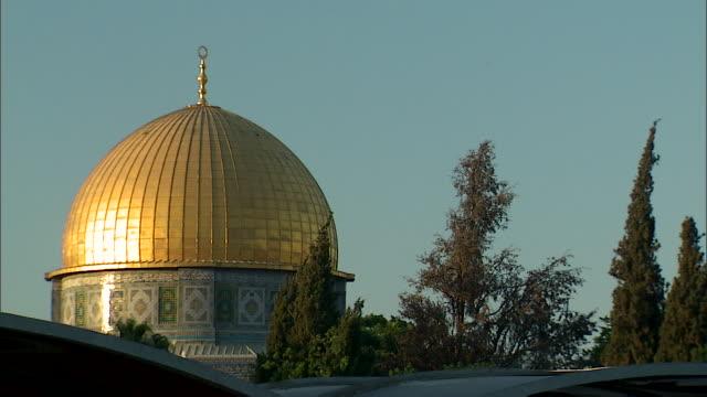 MS Golden Dome of Rock through trees / Jerusalem, Israel