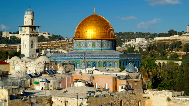 golden dome of the rock - palestinian territories stock videos and b-roll footage