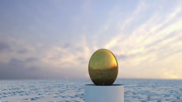vidéos et rushes de cgi ms zo ws golden egg in the middle of maze - labyrinthe
