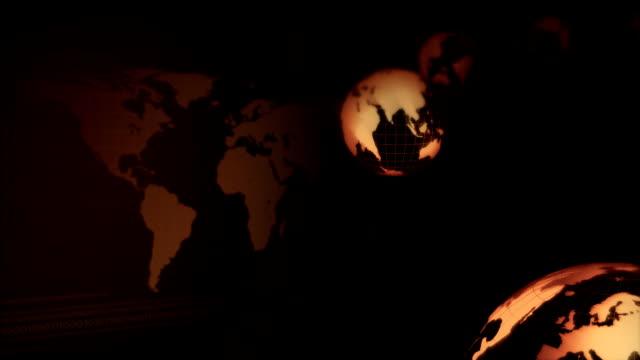 vídeos de stock e filmes b-roll de moldura dourada terra circline - estátua de atlas