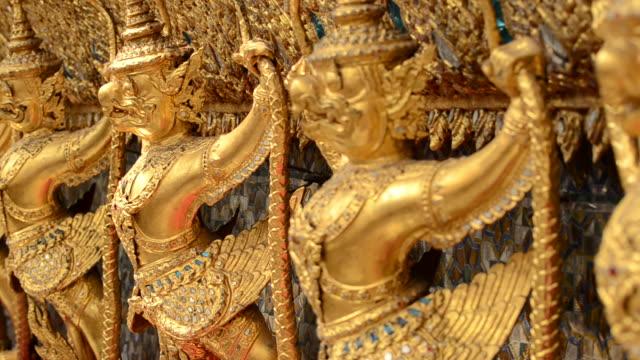 golden garuda - animal representation stock videos and b-roll footage