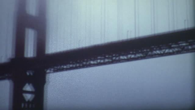 golden gate bridge 1960's - san francisco california stock videos & royalty-free footage