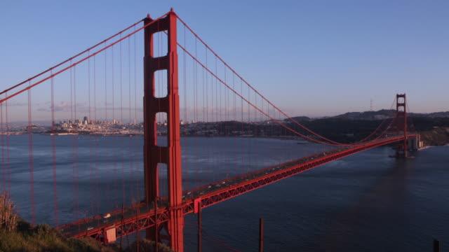vídeos y material grabado en eventos de stock de puente golden gate. 4 k. - bahía de san francisco