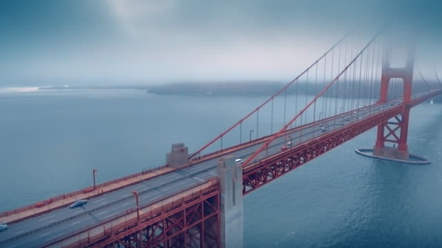 golden gate bridge aerial - golden gate bridge stock-videos und b-roll-filmmaterial