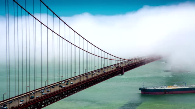 Golden Gate Bridge und den Frachter